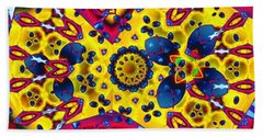 Pattern 2 Intersect Beach Towel by Ron Bissett