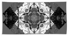 Pattern In Black White Beach Towel