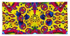 Pattern Intersect Beach Towel by Ron Bissett