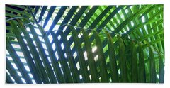 Patterned Palms Beach Towel