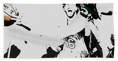 Beach Towel featuring the mixed media Pau Gasol 2c by Brian Reaves
