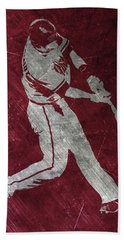 Paul Goldschmidt Arizona Diamondbacks Art Beach Towel by Joe Hamilton