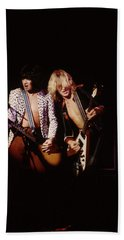 Paul Raymond And Michael Schenker Of Ufo Beach Towel