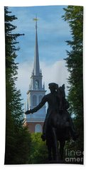 Paul Revere Old North Church Boston Beach Towel