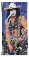 Paul Stanley With Calgary Stampede Hat Beach Towel