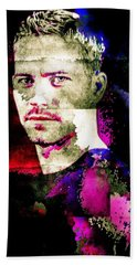 Paul Walker Beach Sheet by Svelby Art