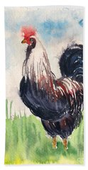 Paunchy Rooster Beach Towel
