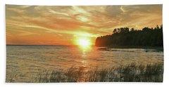 Pavillion View Of The Sunset Sky Beach Towel
