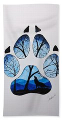 PAW Beach Towel by Edwin Alverio