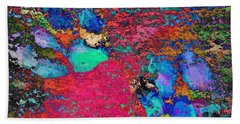 Paw Prints Colour Explosion Beach Towel