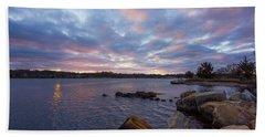 Pawcatuck River Sunrise Beach Towel