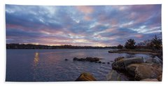 Pawcatuck River Sunrise Beach Towel