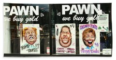 Pawn Shop Humor Beach Towel by Allen Beatty
