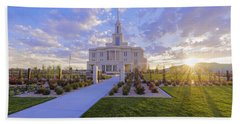 Payson Temple I Beach Towel by Chad Dutson