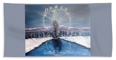 Peace And Goodwill Toward Men With Quote Beach Towel