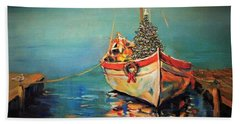 Peace At Christmas Beach Towel