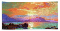 Peace Be Still Meditation Beach Towel