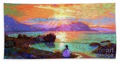 Peace Be Still Meditation Beach Towel