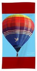 Peace Dove Hot Air Balloon Beach Sheet