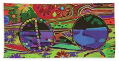 Beach Towel featuring the digital art Peace Art by Eleni Mac Synodinos