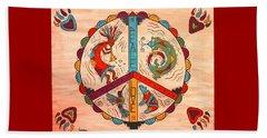 Peace Love And Harmony Beach Sheet