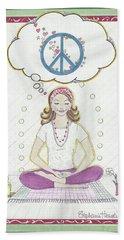 Peace Meditation Beach Sheet