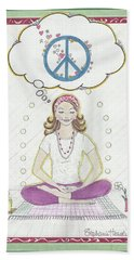 Peace Meditation Beach Sheet