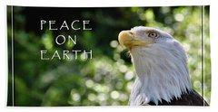Peace On Earth Beach Sheet