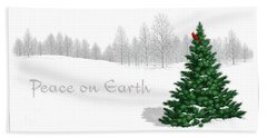 Peace On Earth Beach Sheet by Scott Ross