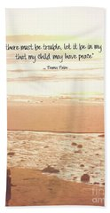 Beach Towel featuring the photograph Peace by Peggy Hughes