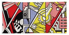 Peace Through Chemistry I - Roy Lichtenstein Beach Towel