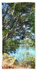 Beach Towel featuring the photograph Peaceful Autumn Lake  by Irina Sztukowski