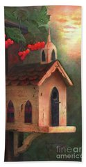 Beach Towel featuring the painting Peaceful Autumn by Nancy Lee Moran