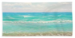 Beach Towel featuring the painting Peaceful Beach by Jimmie Bartlett