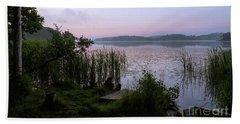 Peaceful Dawn At The Lake Enajarvi Beach Sheet