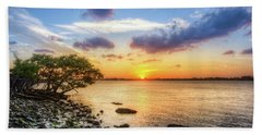 Beach Towel featuring the photograph Peaceful Evening On The Waterway by Debra and Dave Vanderlaan