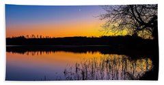 Beach Towel featuring the photograph Peaceful Evening by Rose-Maries Pictures