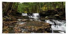 Peaceful Flowing Falls Beach Towel
