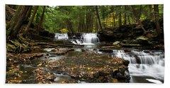Peaceful Flowing Falls Beach Sheet