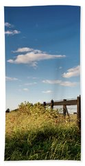 Peaceful Grazing Beach Sheet by David Sutton