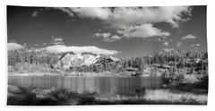 Beach Towel featuring the photograph Peaceful Lake by Jon Glaser