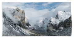 Beach Towel featuring the photograph Peaceful Moments - Yosemite Valley by Sandra Bronstein