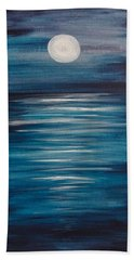 Peaceful Moon At Sea Beach Towel