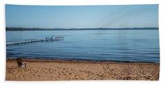 Beach Towel featuring the photograph Grand Traverse Bay Beach-michigan  by Joann Copeland-Paul