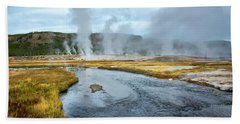 Beach Towel featuring the photograph Peaceful River by Scott Read