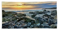 Peaceful Sunset At Crystal Cove Beach Towel