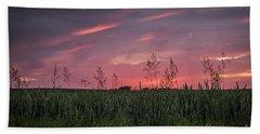 Peaceful Sunset Beach Towel