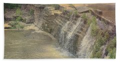 Peaceful Waterfalls Beach Towel by Luther Fine Art