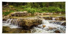Beach Towel featuring the photograph Peaceful Waters - Upper Provo River by TL Mair