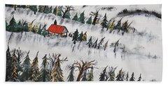 Beach Sheet featuring the painting Peaceful Winter Daybreak by Jeffrey Koss